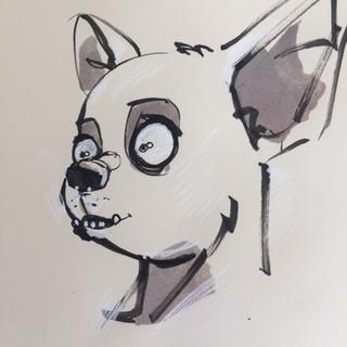 head dog sketch