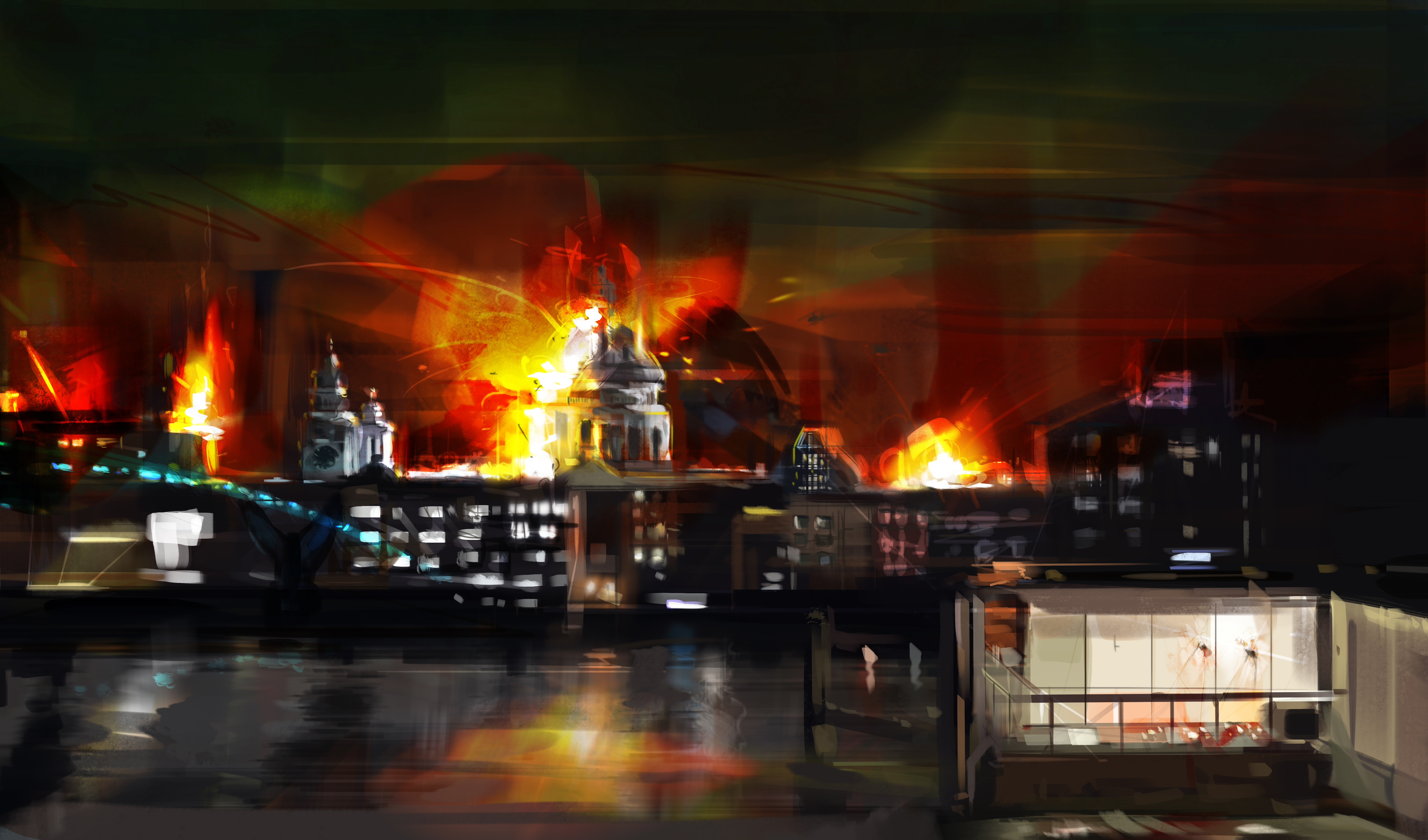 London has fallen concept art