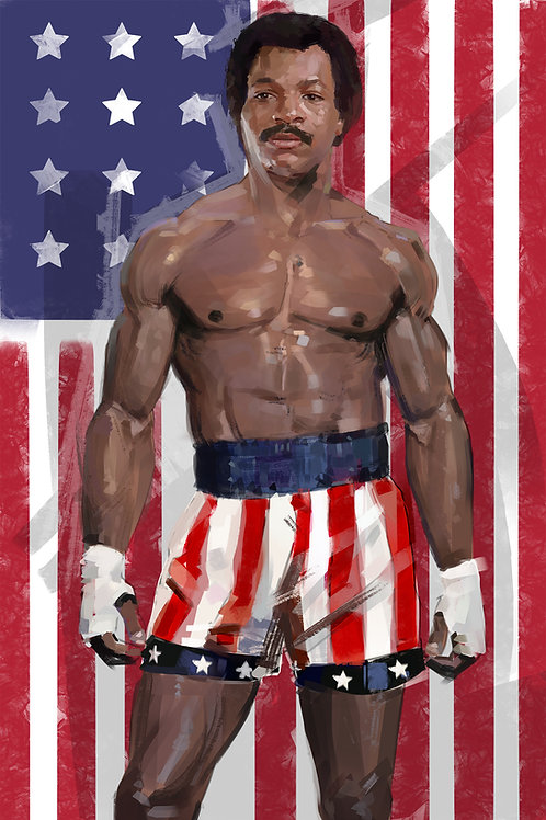 Apollo Creed / Living in america  (A3 Printed)