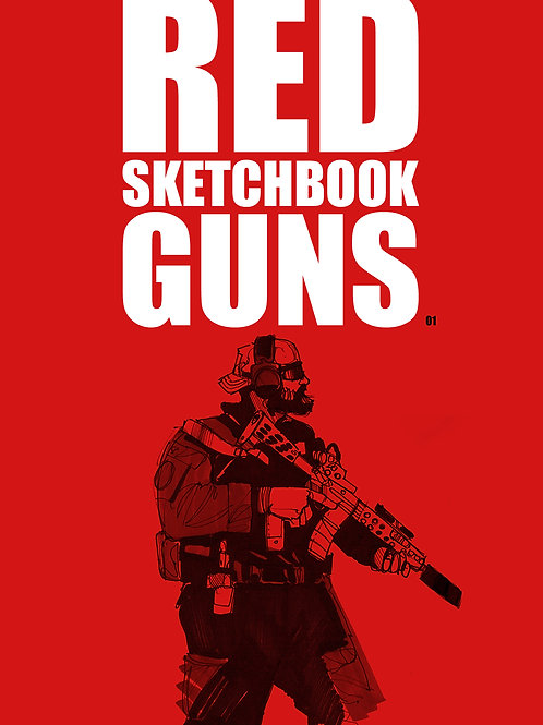 Red Sketchbook Guns 01