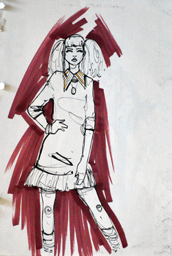 The Girl fashion illustration