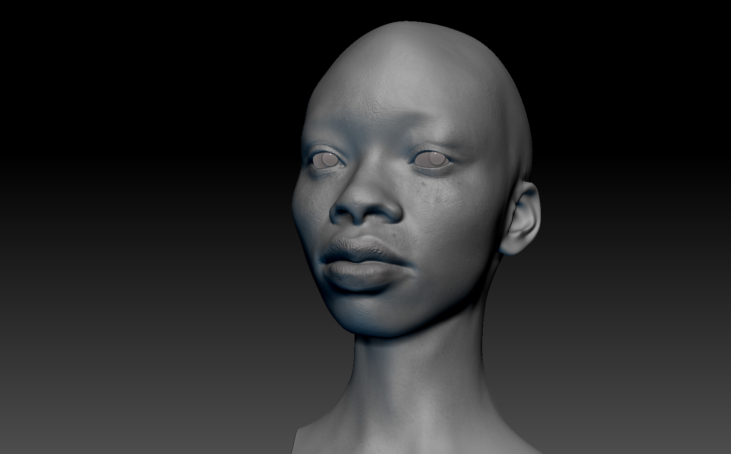 3D Portrait African girl