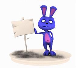 Bluu the rabbit
