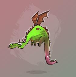 cartoon dragon_billy