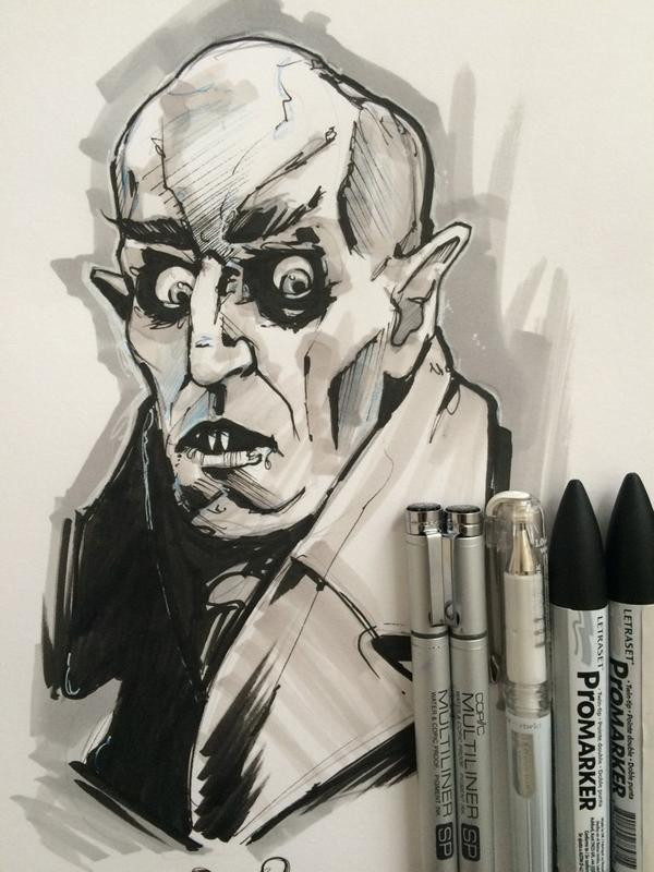 InkTober | 02 Day | Nosferatu