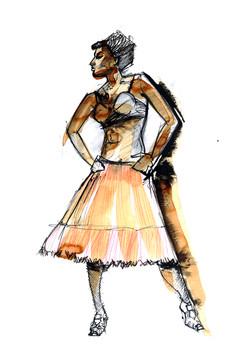 Flamenco Fashion Illustration