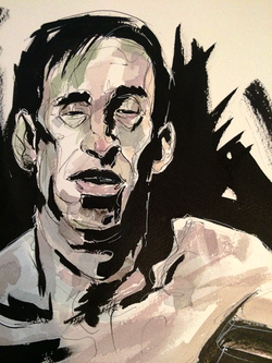 Inkwatercolor portrait