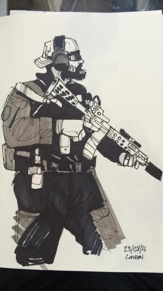 Soldier sketch