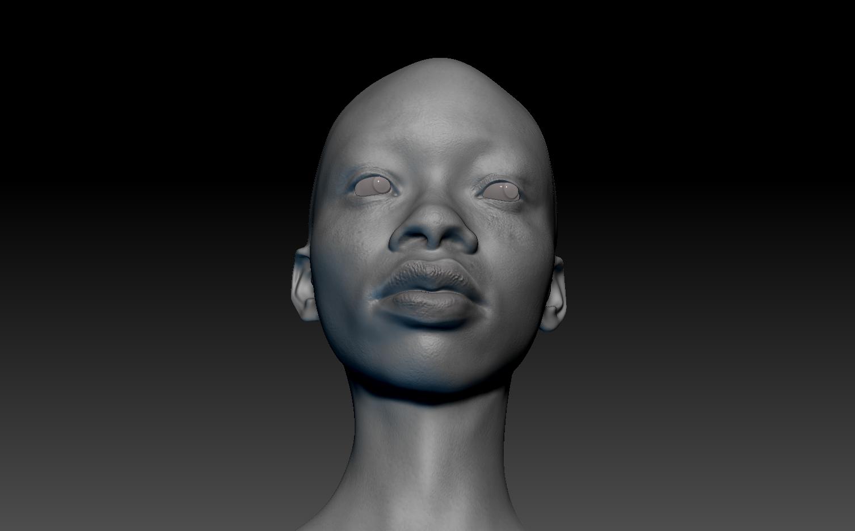 3D African Girl