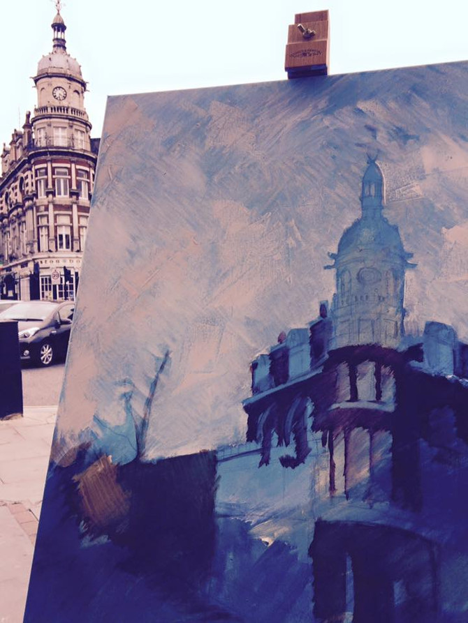 Painting Tufnell Park / wip