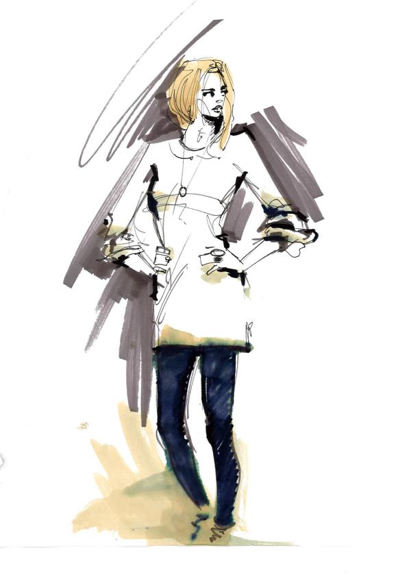 "Fashion illustration ""paris"""
