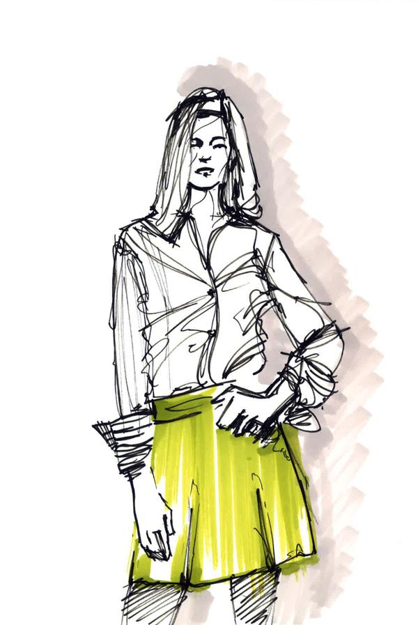 Lines fashion illustration