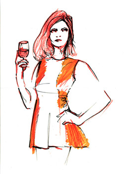 Crayon fashion illustration