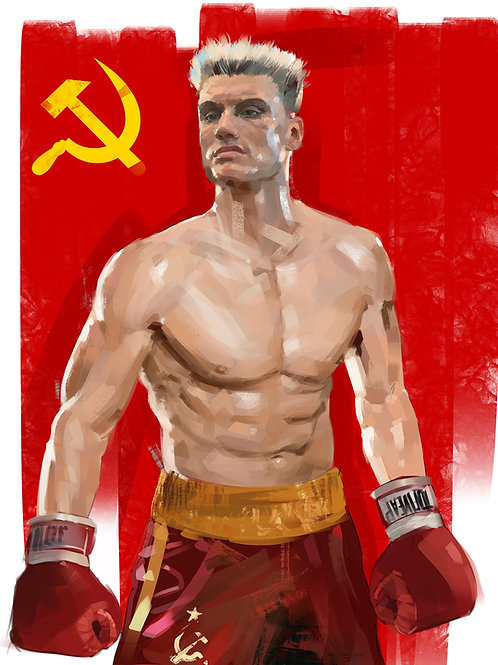 Ivan Drago / I must break you (A3 Printed)