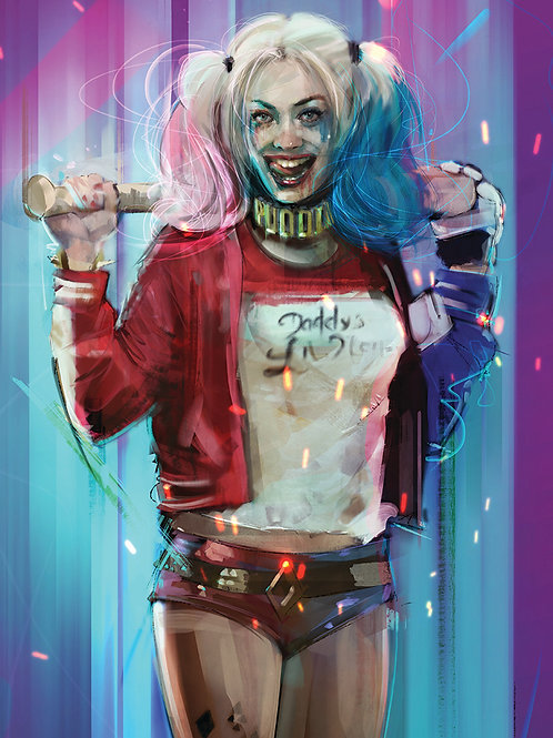 HARLEY QUINN / A3  ( Limited 100 copies)