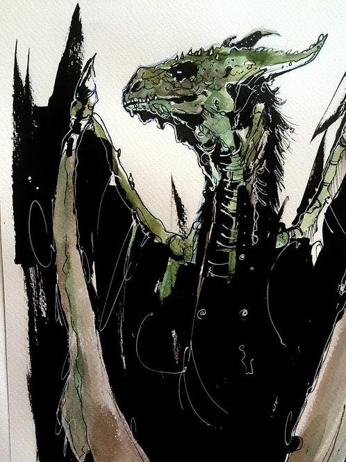 ORIGINAL ARTWORK / Dragon Ink / A4