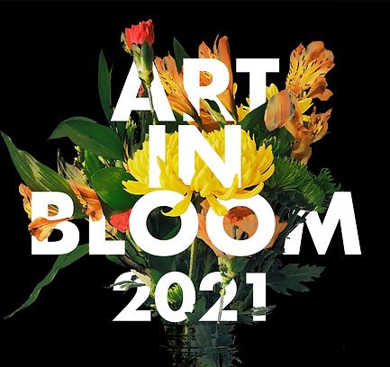 Art in Bloom 2021 Logo Black Background.