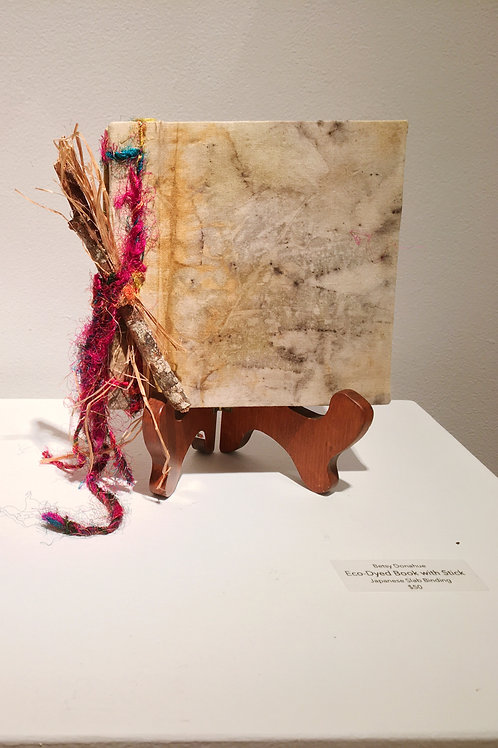 """""""Eco Dyed Book with Stick"""""""