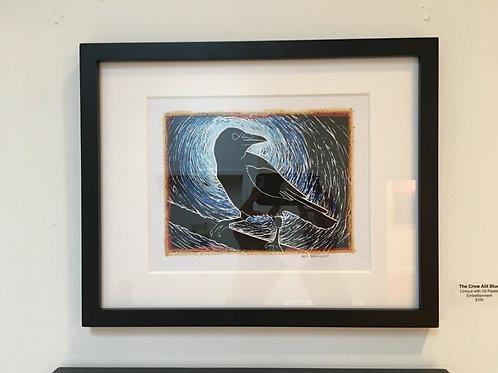"""The Crow Alit Blue"""