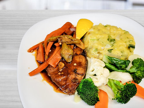 Barbados Brown Stew King Fish