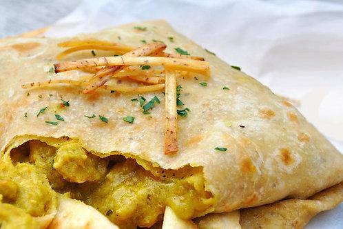 Trinidad Boneless Chicken Roti