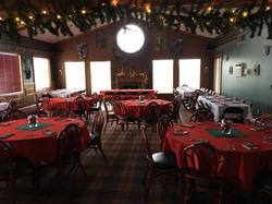 Banquet Room Holiday Decor