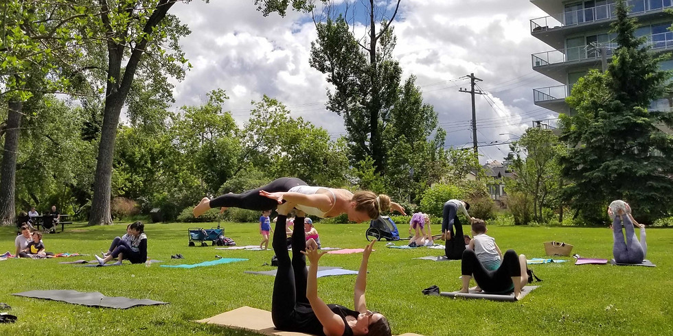 Family Yoga in The Park - July