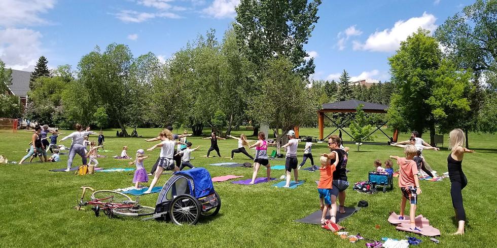 Family Yoga in The Park - September