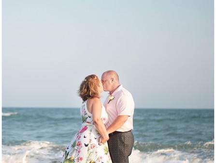 Kim + Joe | 25 Year Beach Destination Vow Renewal | Emerald Isle, NC | Destination Photographers | A