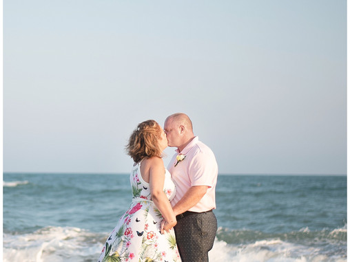 Kim + Joe | 25 Year Beach Destination Vow Renewal | Emerald Isle, NC | Destination Photographers | A