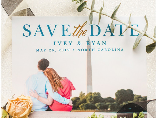"""Announce Your Engagement By Ordering Your Classic Wedding Save The Dates With """"Basic Invite&quo"""