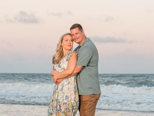 Casey + William | Allie Miller Weddings | Beach Engagement Sessions | Emerald Isle/Beaufort NC
