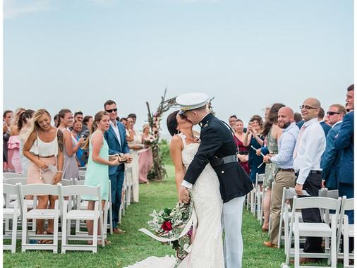 Lexi +Chris   The Islander Resort In Emerald Isle, NC   Coastal Destination Weddings   Allie Miller