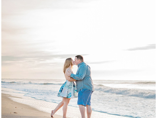 Angelea + Matt | Emerald Isle, NC Engagement Session | Coastal Brides | Allie Miller Weddings | Dest