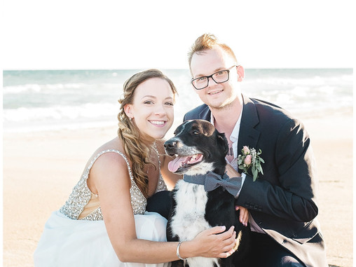 Samantha + Tyler | Emerald Island Intimate Wedding Ceremony by the Ocean | NC Wedding Photographers