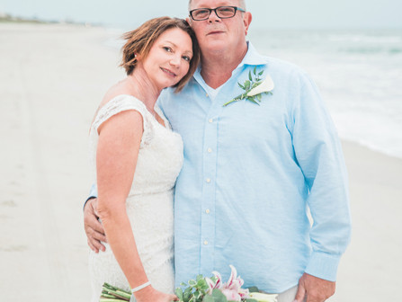 Marisa + Mark | Intimate Elopement | Emerald Isle, NC | Intimate Weddings | Celebrations | Family Va