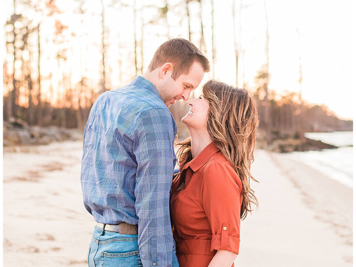 Melissa + Matthew | Neuse Breeze Engagement Session | Getting Married | Destination Weddings | Engag