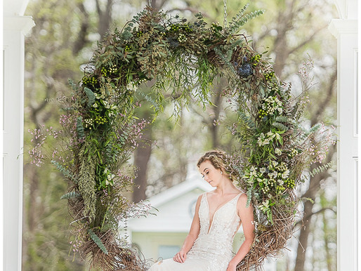 Blues + Pastels + Greens | Wedding Planning Series | Editorial Whimsically Wed Styling | Neuse Breez