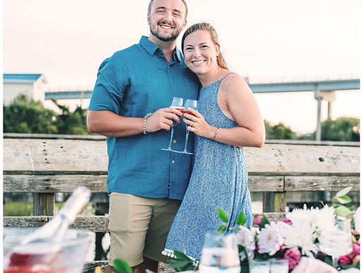 Surprise Proposals | Julia + Jacob | Topsail, NC | Engagements | Styling and Designing by Whimsicall
