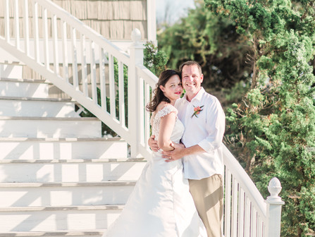 Kristen + Eric | Private Elopement | Pine Knoll Shores, NC | Allie Miller Weddings | Destinations