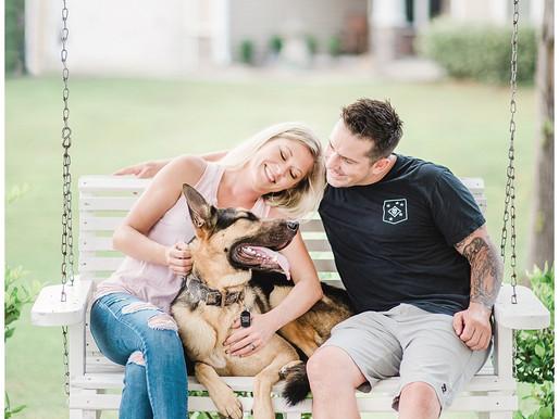 Amanda + James - Featuring Ramsey | Engagement Session | Swansboro/Hubert, NC | Hammocks Beach State