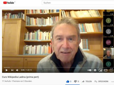 Prima pert dl curs de wikipedia cun Wolfgang Moroder sun youtube