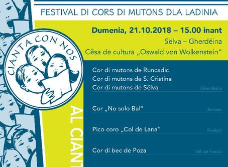 CIANTA CON NOS - Festival di Cors di mutons dla Ladinia