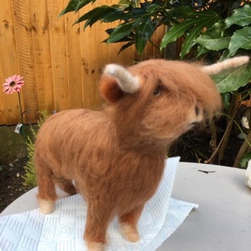 Needlefelt a Highland Cow, Saturday 21st March, 11am - 3pm