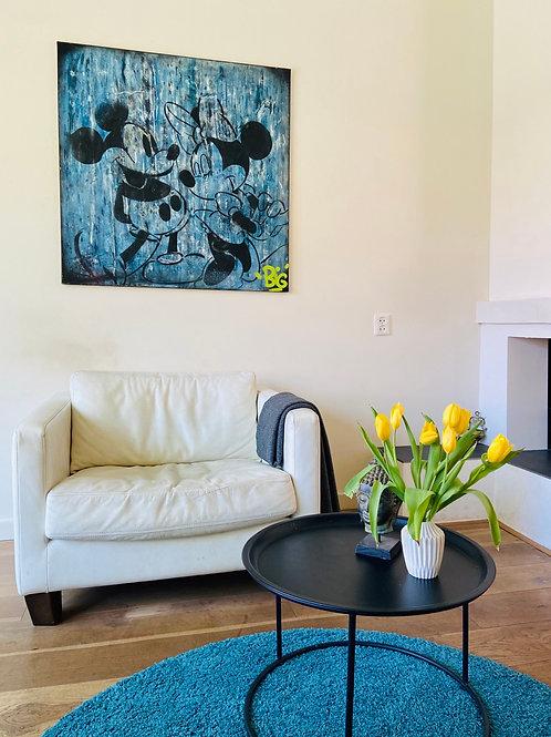 Mickey en Mini schilderij  by ReinO