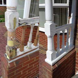 Repaired porch