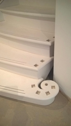 Curved stairs with bull nose tread