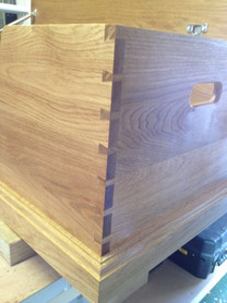 Dovetail joints on toy box