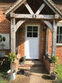 New cottage front door