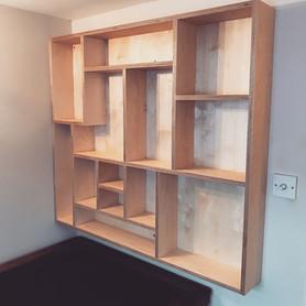 Plywood desk tidy/storage